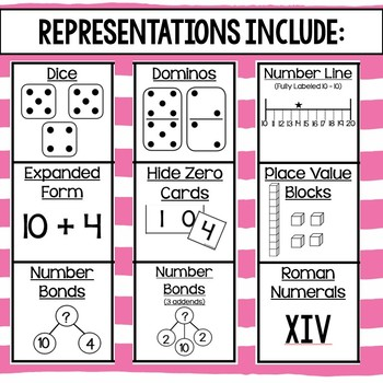 Teen Number Cards (10-20) (Print and Go cards with various representations)
