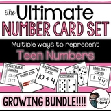 Teen Number Cards (10-20) (Print and Go cards for creative