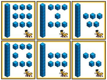 Teen Number Caterpillar Math Centers