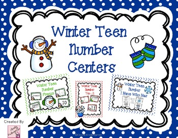 Teen Number Center Games - Winter Themed