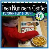 Teen Number Center {Popcorn Flip & Count}