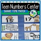 Teen Number Center {Safari Time Match}
