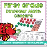 Addition, Subtraction and Teen Number Math Center Activities