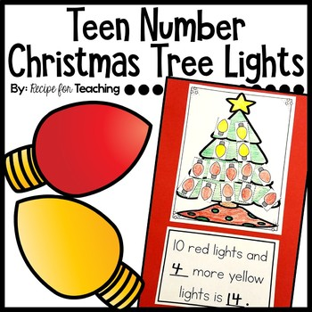 Teen Number Christmas Tree Lights