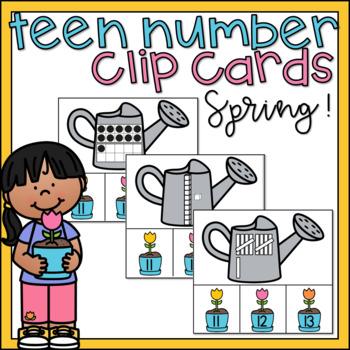 teen numbers center clip cards activity ten frames place value rh teacherspayteachers com Math Clip Art Base Ten Clip Art