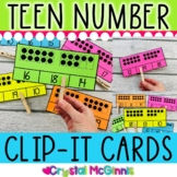 Teen Numbers Clip It! Math Center (24 Cards)