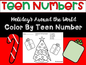 Teen Number Color by Number