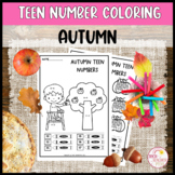Teen Number Coloring Worksheets Autumn Ten Frames Tally Ma