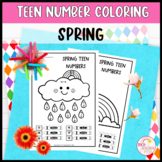 Teen Number Coloring Worksheets Spring Ten Frames Tally Ma