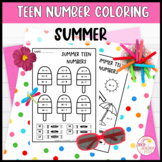 Teen Number Coloring Worksheets Summer Ten Frames Tally Ma