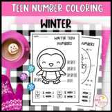 Teen Number Coloring Worksheets Winter Ten Frames Tally Ma