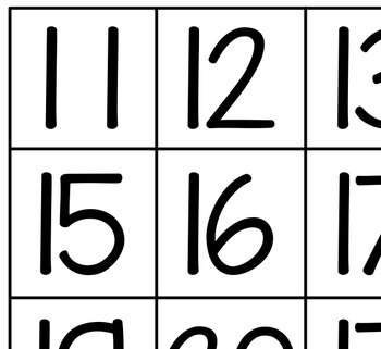 Teen Number Counting Cards