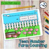 Teen Number Counting Farm Digital Eureka Math Module 5 Topic A