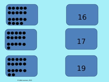 Teen Number Dot Card Matching Game