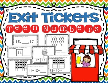 Teen Number Exit Tickets