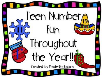 Teen Number Fun Throughout the Year