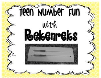 Teen Number Fun with Rekenreks {freebie}