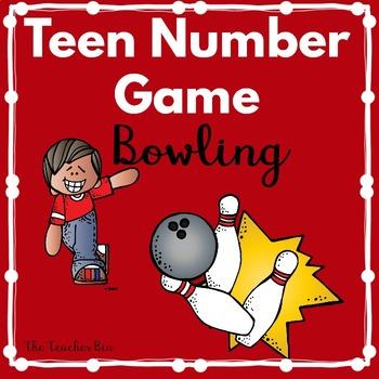 Kindergarten - Special Education - Teen Number Game-Let's Go Bowling