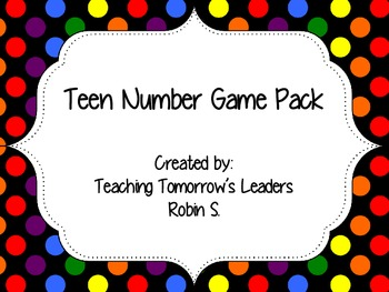 Teen Number Game Pack