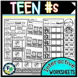 Teen Number Interactive Worksheets {PreK & Kindergarten}