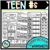 Teen Number Interactive Worksheets
