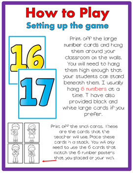 Teen Number JUST MOVE! (A Get Up and Move Around the Classroom Game)