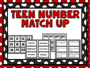 Teen Number Match- Base 10 and 10 Frames