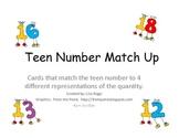 Teen Number Match Up