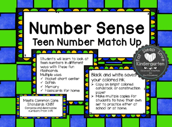 Teen Number Match Up