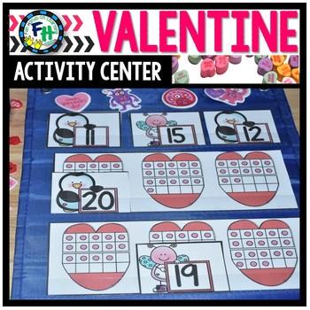 Valentine Activity Center {Teen Number Match}