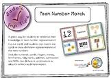 Teen Number Match: numerals, names, fingers, money, ten fr