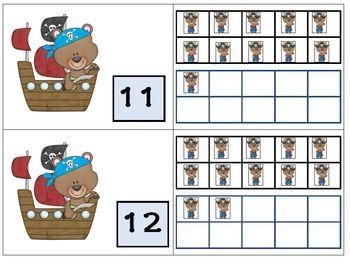 Teen Number Matching Game Using Ten Frames