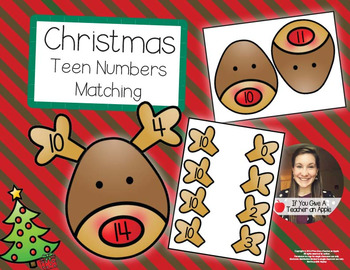Teen Number Matching - Help Rudolph Find His Antlers