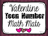 Teen Number Math Mats