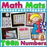 Teen Number Math Mats  (9 Hands-On Center Activities With Teen Numbers)