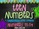 Teen Number Math Stations/Centers