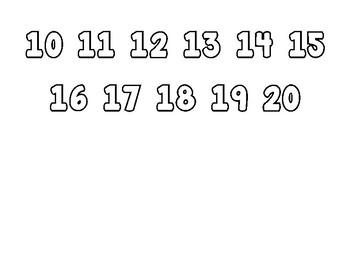 Teen Number Mats