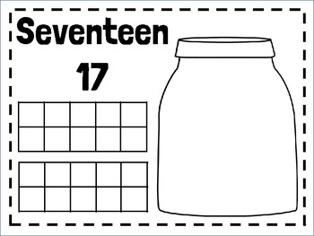 Teen Number Mats-Play Doh & Dry Erase!