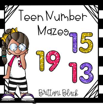 Teen Number Mazes