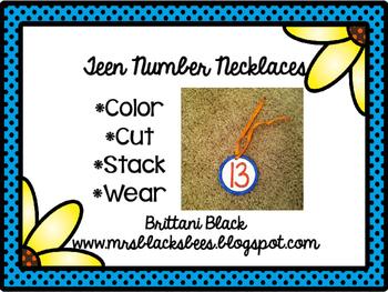 Teen Number Necklaces