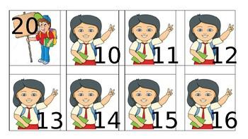 Teen Number Order Game