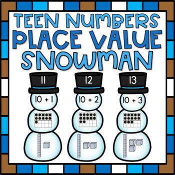 Place Value Center Number Sense Activity for Kindergarten Winter Theme