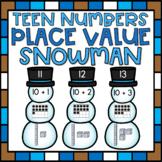 Teen Number Sense Center for Kindergarten Place Value Math