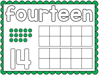 Teen Number Playdough Mats 11-20