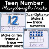 Teen Numbers Kindergarten Worksheets with Ten Frames Playdough Mats