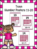 Teen Number Posters 11-20 (pink)