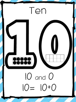 Teen Number Posters Common Core Aligned 10-20