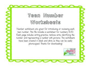 Teen Number Practice