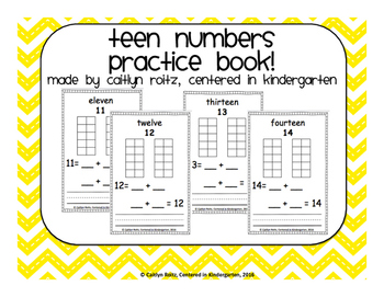 Teen Number Practice Book