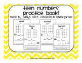 Teen Number Practice Book